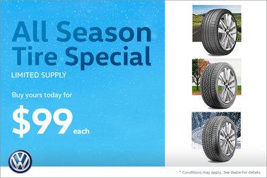 All-Season Tire Special - $99 Each
