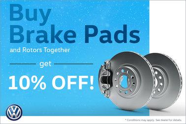 Buy Brake Pads and Rotors and Save 10%