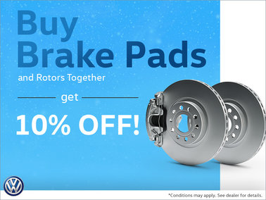 Buy Brake Pads and Rotors and Save 10%