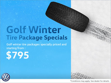 Golf Winter Tire Package Special