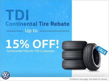 TDI Continental Tire Rebate