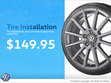 Tire Installation Combo for $149.95