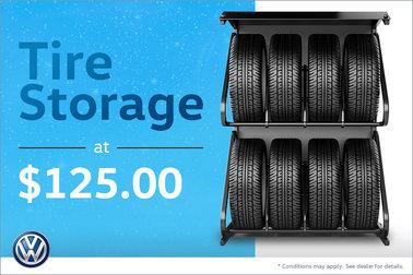 Tire Storage at $125