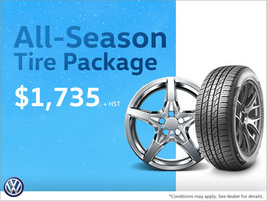 Get Our All-Season Tire Package! Only $1,735!