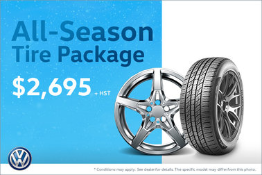 Get Our All-Season Tire Package! Only $2,695!