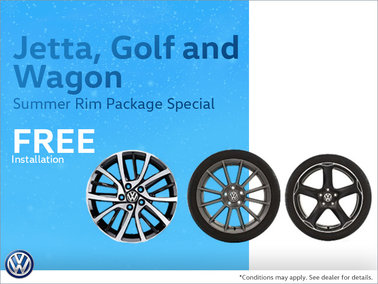 Jetta, Golf and Wagon Summer Rim Package Special