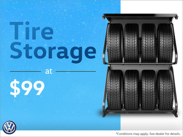 Tire Storage at $99
