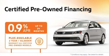 Certified Pre-Owned Special Finance Rates: Non-TDI Models from 0.9%