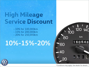 10%-15%-20% High Mileage Service Discount