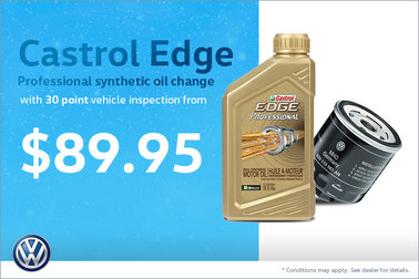 Castrol Edge Professional synthetic oil change, with 30 point vehicle inspection from $89.95