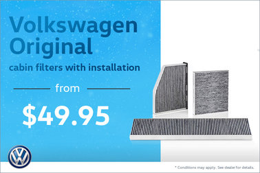 From $49.95, Volkswagen Original cabin filters with installation‡‡