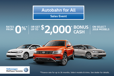 VW MidTown's 2018 April Offers - Autobahn Continues!