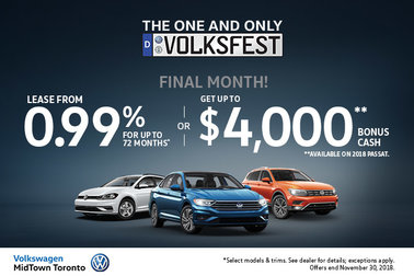 Final Month! VW MidTown's November Offers