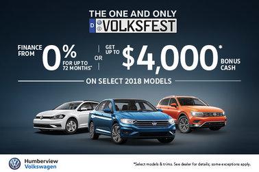 Humberview's SEPTEMBER Volkswagen Offers