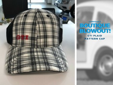 Was $20.99 NOW $15.39 - GTI Plaid Pattern Cap