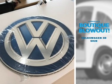 Was  $13.13  NOW  $8.75  - Volkswagen 3D Sign