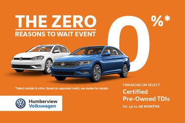 0% for 60 Months TDI Specials this July!