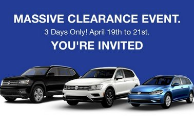 VW MidTown's MASSIVE 3 DAYS ONLY Clearance Event