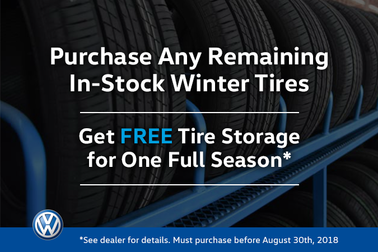 FREE Tire Storage for A Season