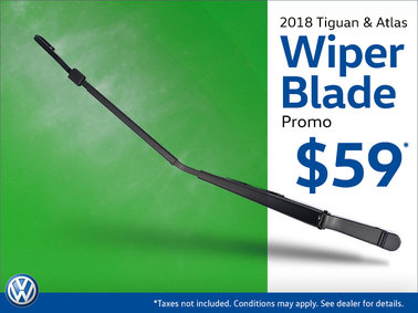 2018 Tiguan and Atlas Wiper Blades Special $59+tax