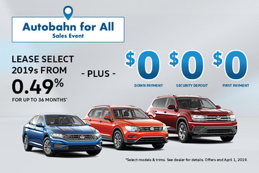 Our Autobahn for All Sales Event is Back!