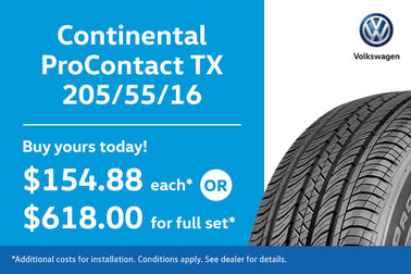 205/55/15 Continental ProContact TX Tires