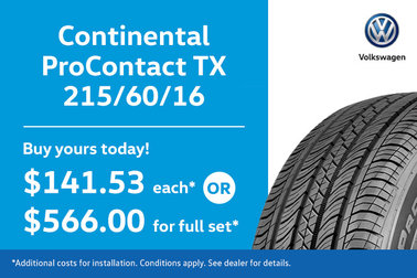 215/60/16 Continental ProContact Tires