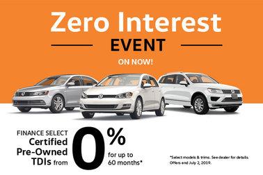 CPO TDI Zero Interest Event - On Now!