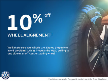 10% Off Wheel Alignment!