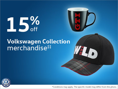 15% Off Volkswagen Collection merchandise
