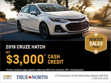 Get the 2019 Chevrolet Cruze Hatch