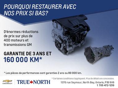 Nouveaux moteurs ou transmissions à bas prix!