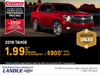 Finance the 2019 Chevrolet Tahoe
