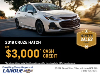 Get the 2019 Chevrolet Cruze Hatch