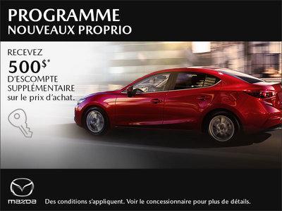 Programme nouveaux proprio Mazda