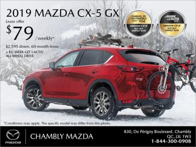Get the 2019 Mazda CX-5!