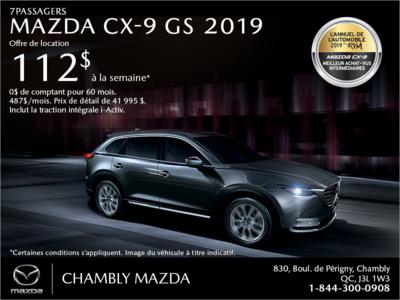 Procurez-vous le Mazda CX-9 2019!