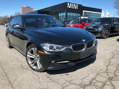 BMW 328d DIESEL NAVI CAMERA BLACK ON RED SUNROOF 2015