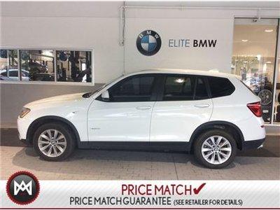 BMW X3 AWD, LOW KMS, WHITE 2016