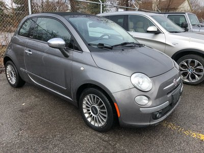 Fiat 500 AS IS SPECIAL CONVERTIBLE AUTO RED LEATHER SEATS!!! 2012
