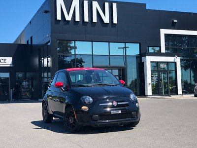 2015 Fiat 500 RED SEATS RED ROOF 6MT LOW KM STRAIGHT BLACK