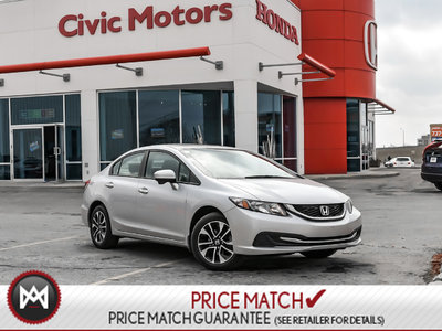 Honda Civic Sedan EX - 4YR/100,000 KMS HONDA WARRANTY, BLUETOOTH 2015