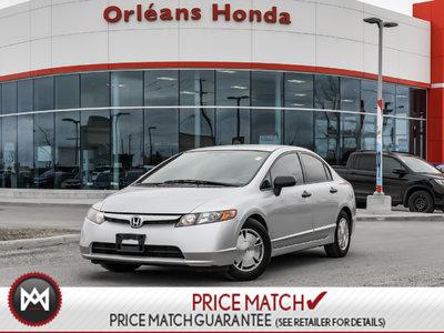 2008 Honda Civic DX-G, A/C, POWER WINDOWS, CLEAN CAR