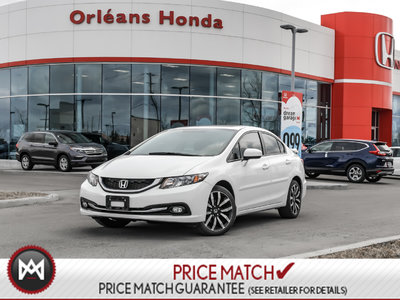 Honda Civic TOURING, LEATHER ,BAK UP CAMERA,NAVI, SUNROOF 2014