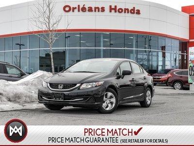 2015 Honda Civic LX-Auto -Honda Plus Warranty to 100,000kms