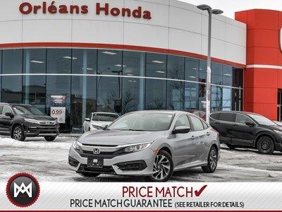 2016 Honda Civic EX CVT Honda Plus Warranty TO 100,000KMS