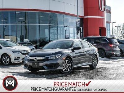 2018 Honda Civic EX- Honda Plus Warranty TO 2022 OR 100,000KMS