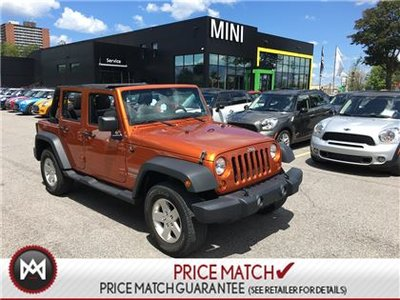 Jeep Wrangler Unlimited LOCAL TRADE IN 4WHEEL DRIVE SPICY ORANGE LOW KM 2011