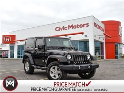 2014 Jeep Wrangler SPORT - 4X4, HARD TOP, AIR CONDITIONING