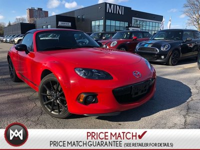 2013 Mazda MX-5 HARD TOP CONVERTIBLE 6MT RED ON BLACK LOW KM